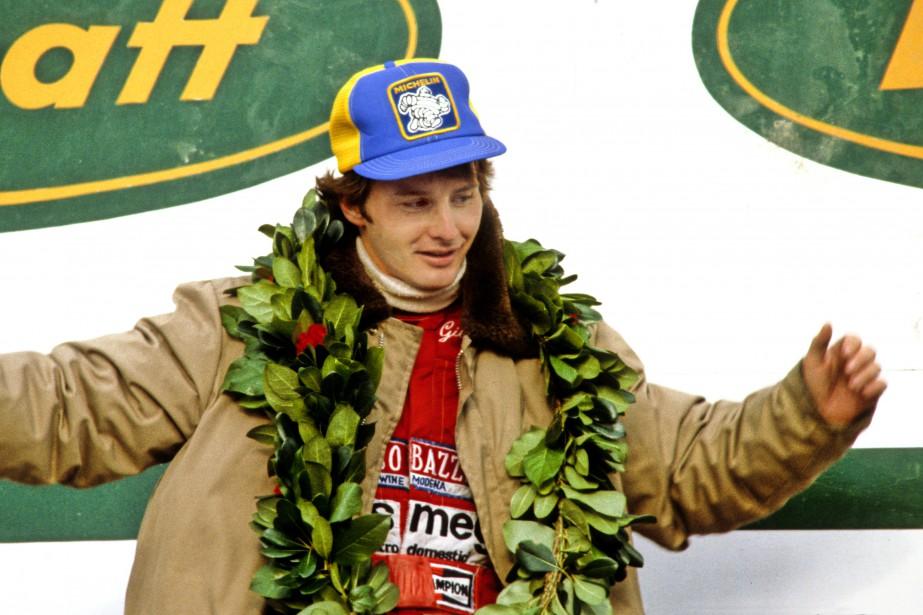 Gilles Villeneuve célèbre sa victoire au Grand Prix du Canada... | 2017-10-03 00:00:00.000