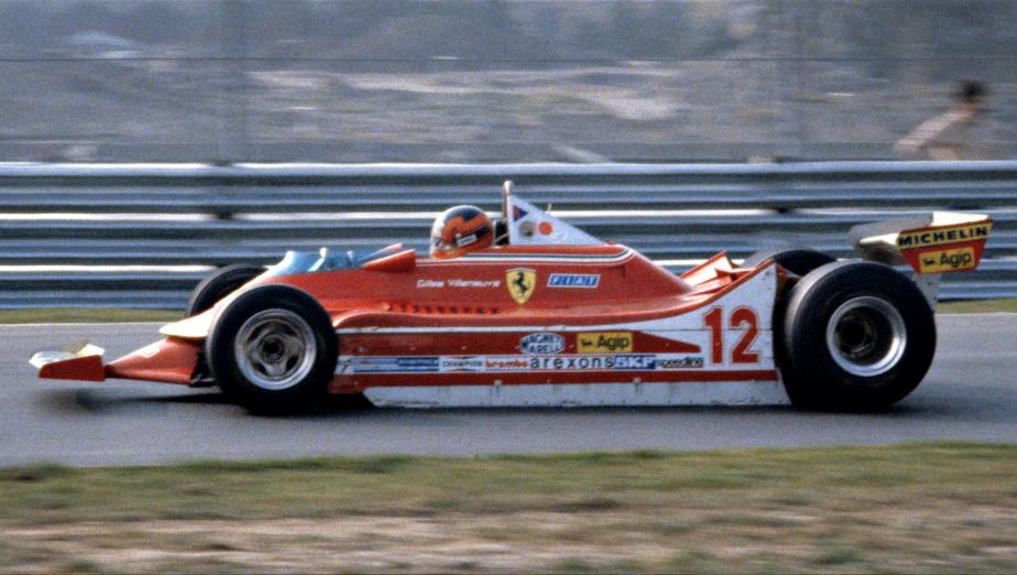 Gilles Villeneuve au volant de sa Ferrari, en route vers la victoire au Grand Prix du Canada en 1978. | 3 octobre 2017