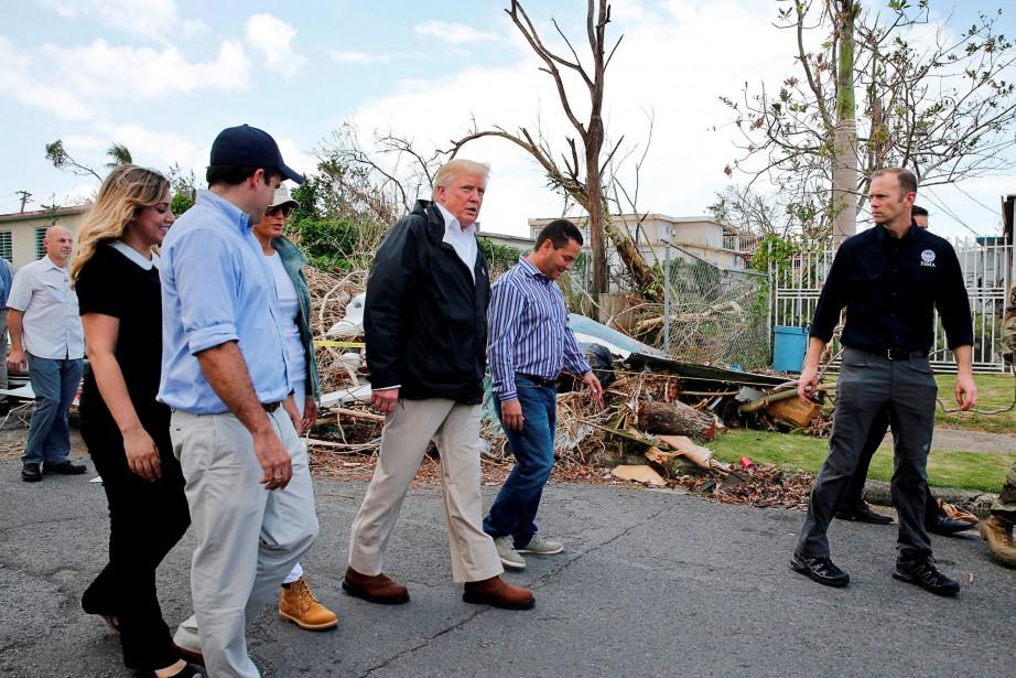 Donald Trump s'est rendu mardi à Porto Rico... (PHOTO archives REUTERS)