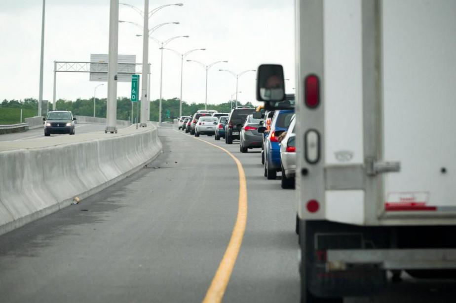 La congestion routière s'aggrave dans la banlieue nord... (Photo Hugo-Sébastien Aubert, Archives La Presse)