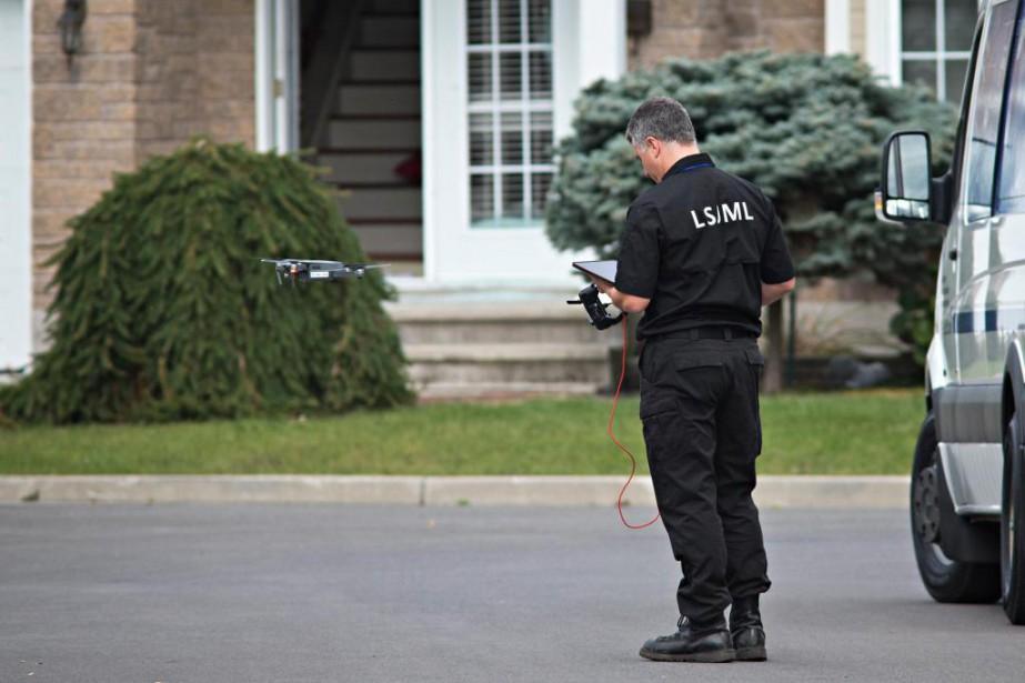 La Sûreté du Québec s'est servie d'undrone dans... (Photo PatrickSanfaçon, La Presse)
