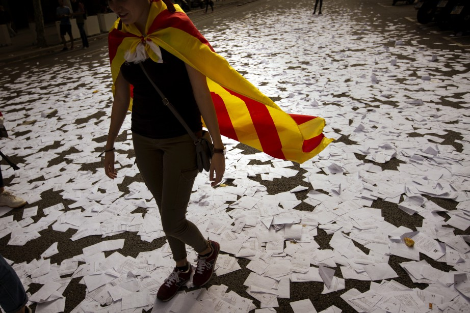 Le référendum du 1er octobre en Catalogne a... (Photo Emilio Morenatti, AP)