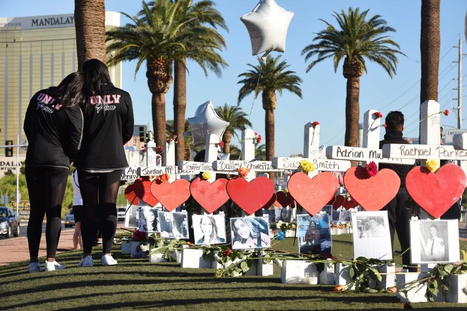 Cinquante-huit croix blanches ont été installées sur le... (PHOTO AFP)