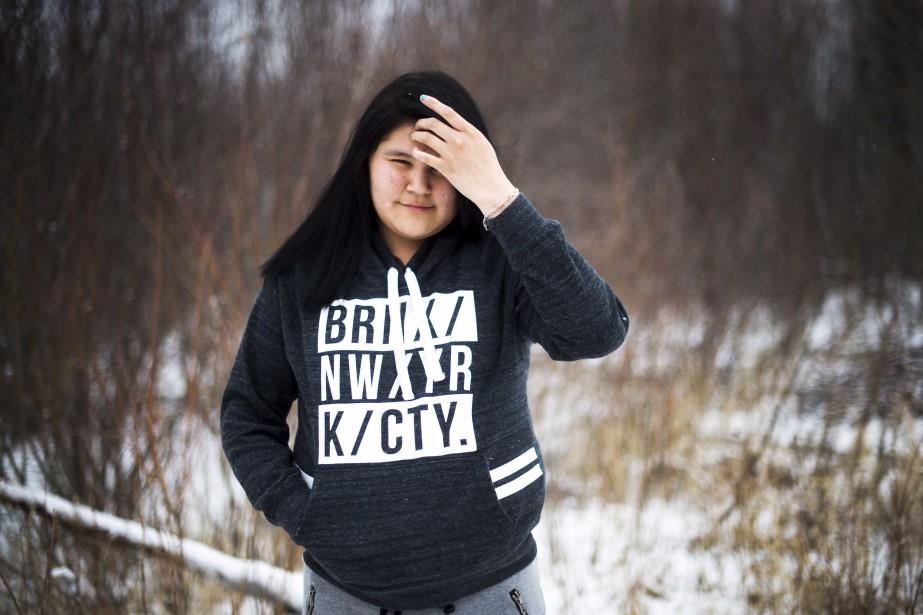 Rebecca Hookimaw, soeur de Sheridan.... (Photo archives La Presse Canadienne)