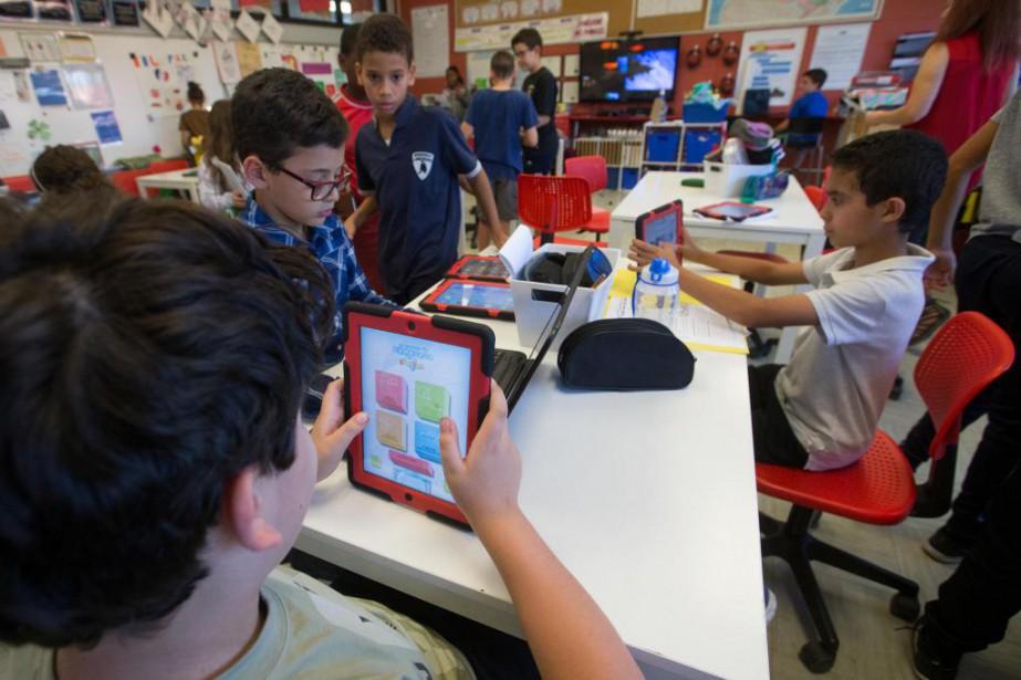 À l'écoleprimaire Wilfrid-Bastien à Saint-Léonard,plusieurs enseignants disposent d'un... (Photo Ivanoh Demers, La Presse)