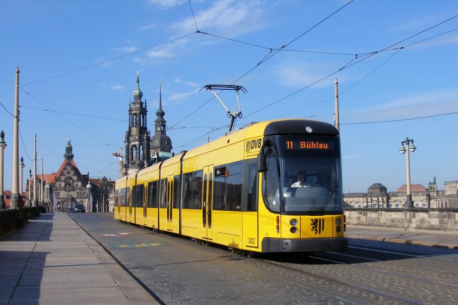 Le tramway FLEXITY à Dresde, en Allemagne.... (Photo fournie par Bombardier)