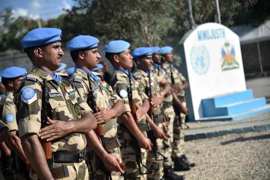 Sixième mission de maintien de la paix en... (PHOTO AFP)