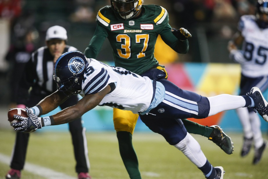 Le receveur des Argonauts de Toronto S.J. Green... (Photo Jeff McIntosh, PC)