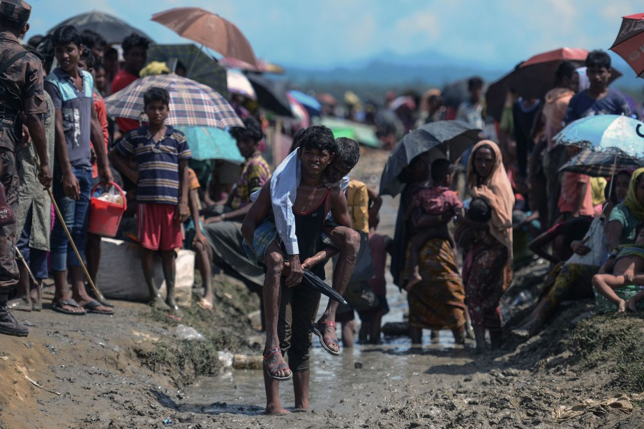 Un camp de réfugiés rohingyas.... (PHOTO MUNIR UZ ZAMAN, ARCHIVES AFP)