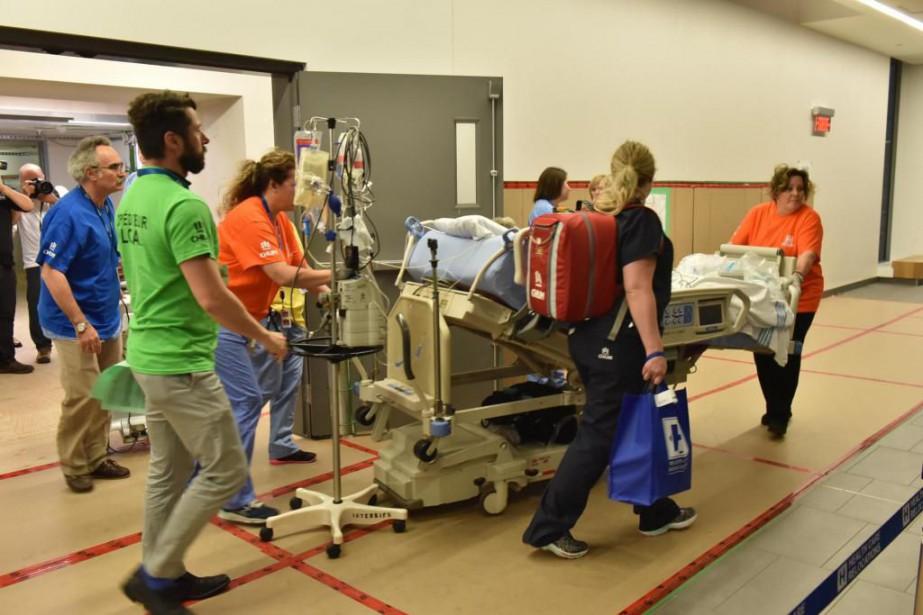 Les patients de l'hôpital Saint-Luc ont déménagé dans... (Photo fournie par le CHUM)
