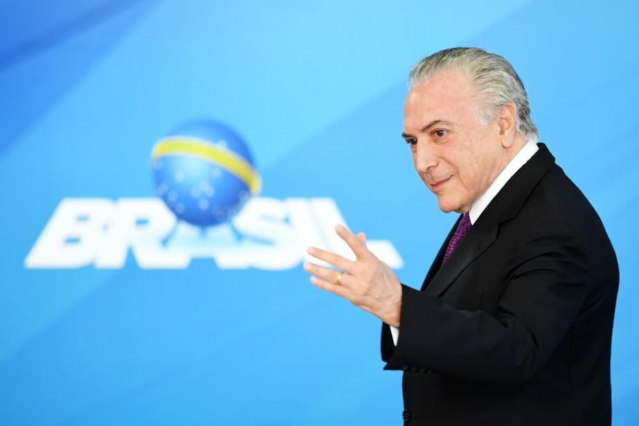 Le président brésilien Michel Temer... (Photo Evaristo Sa, AFP)