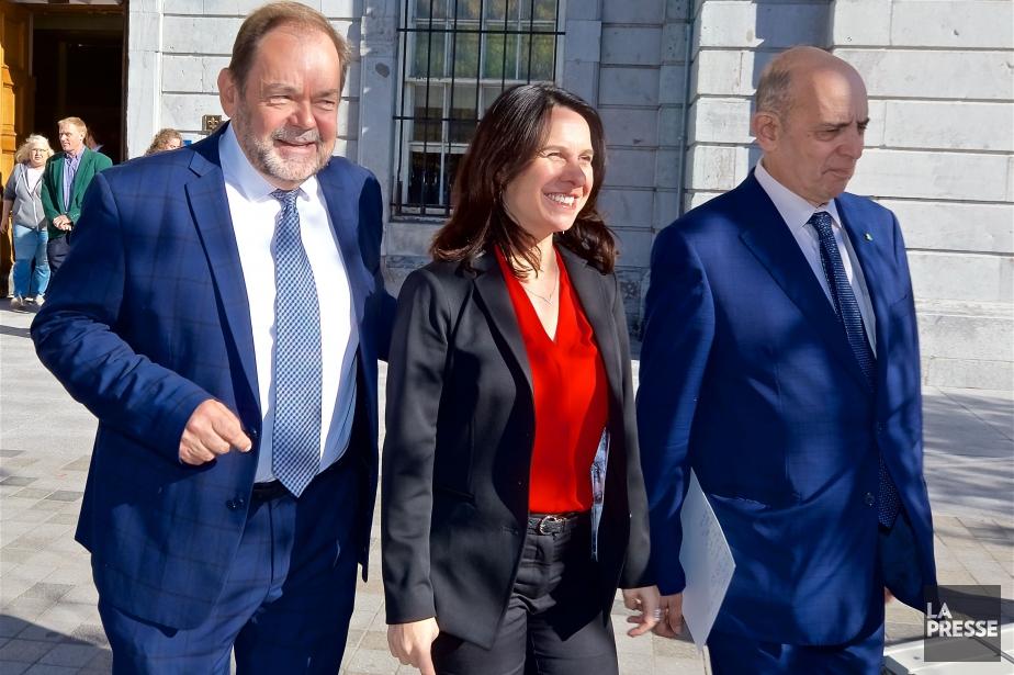 Jean Fortier, Valérie Plante et Marvin Rotrand.... (Photo André Pichette, La Presse)