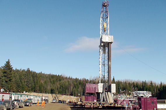 Un puit d'exploration pétrolière.... (Photo fournie par Pétrolia)