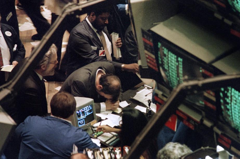 Le 19 octobre 1987, le Dow Jones perdait... (AFP)
