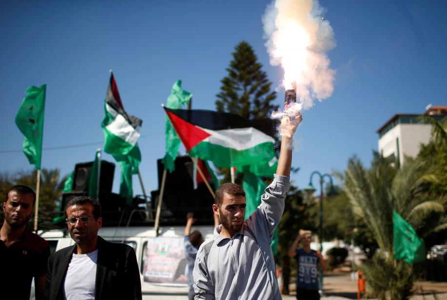 Les deux principales formations palestiniennes se sont entendues... (REUTERS)