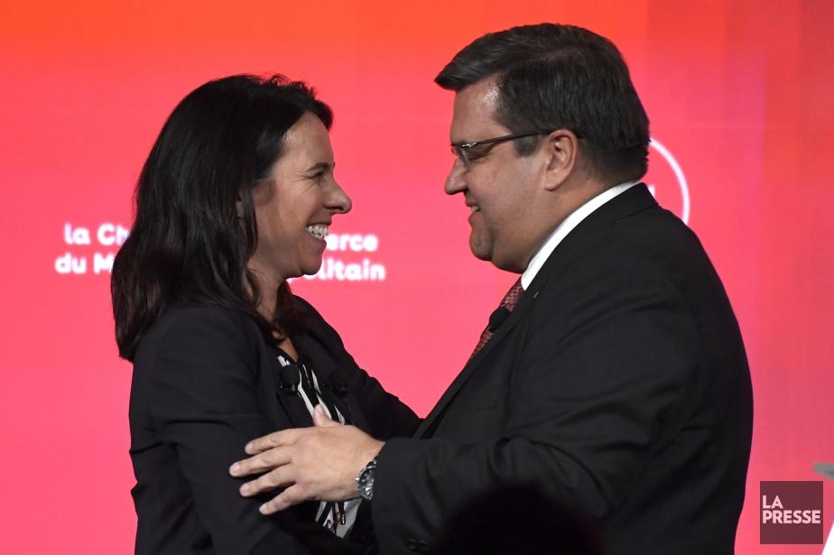 Valérie Plante et Denis Coderre.... (PHOTO BERNARD BRAULT, ARCHIVES LA PRESSE)