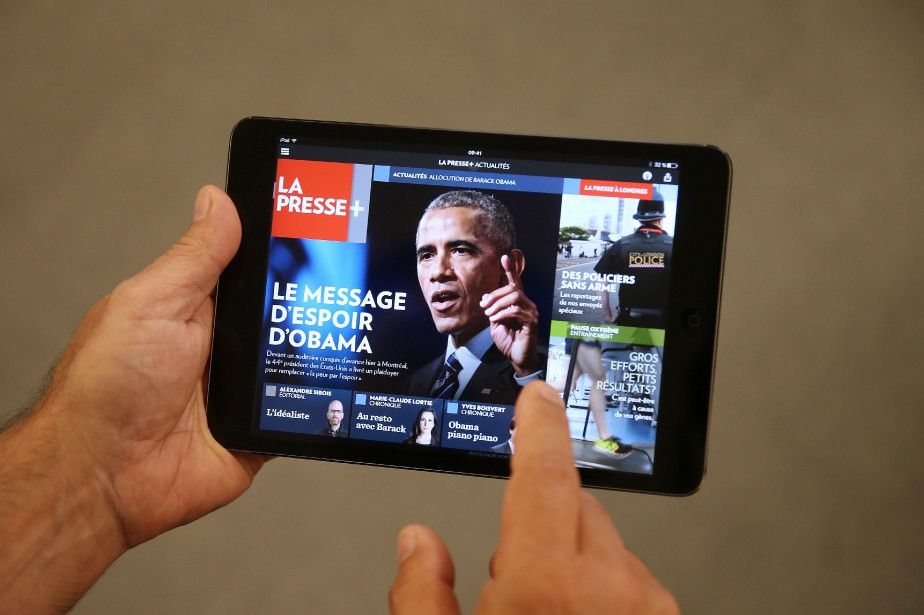 La Presse+ s'est illustrée au gala... (PHOTO MARTIN CHAMBERLAND, LA PRESSE)