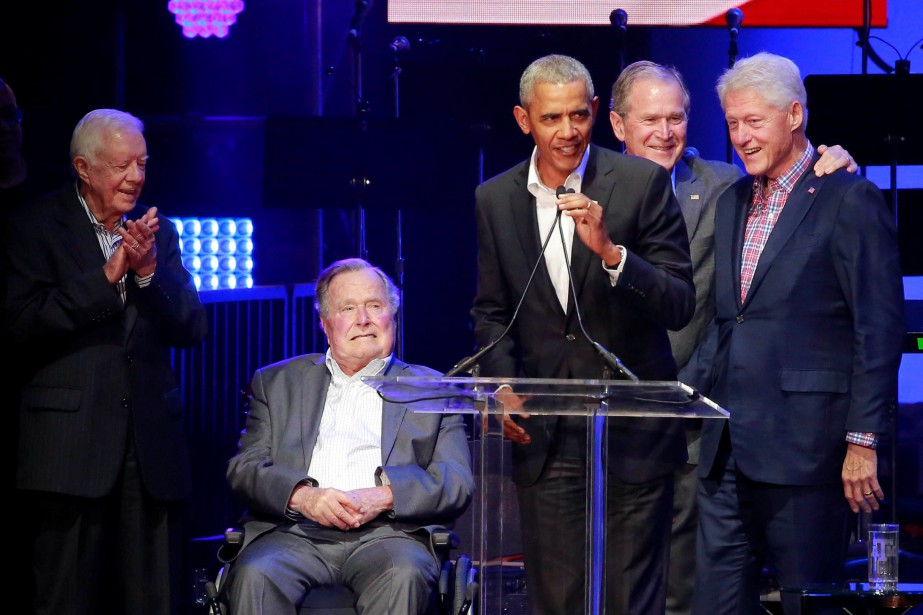 Jimmy Carter, George H.W. Bush, Barack Obama, George... (REUTERS)