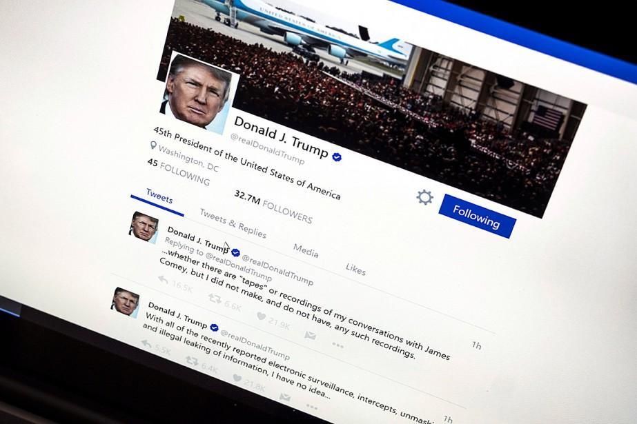 Donald Trump a désormais plus de 40millions d'abonnés... (PHOTO J. DAVID AKE, ARCHIVES ASSOCIATED PRESS)
