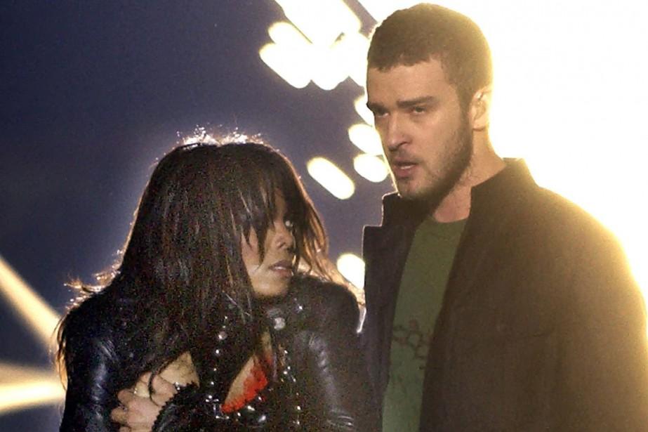 Janet Jackson et Justin Timberlake lors duspectacle de... (ARCHIVES AP)