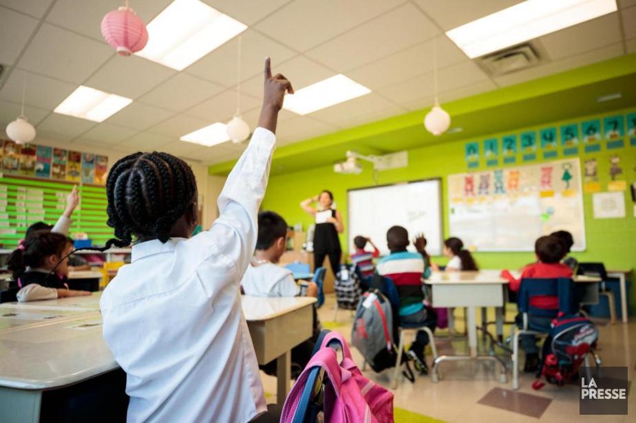 L'école primaire Saint-Vincent-Marie, à Montréal-Nord.... (PHOTO HUGO-SÉBASTIEN AUBERT, LA PRESSE)