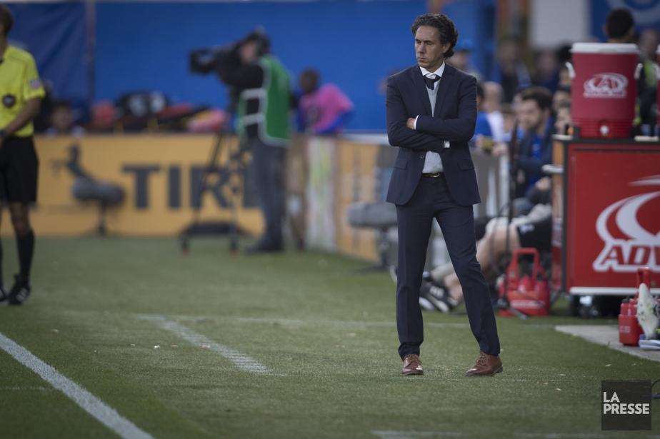 La troupe de Mauro Biello a terminé sa... (Photo Olivier Jean, La Presse)