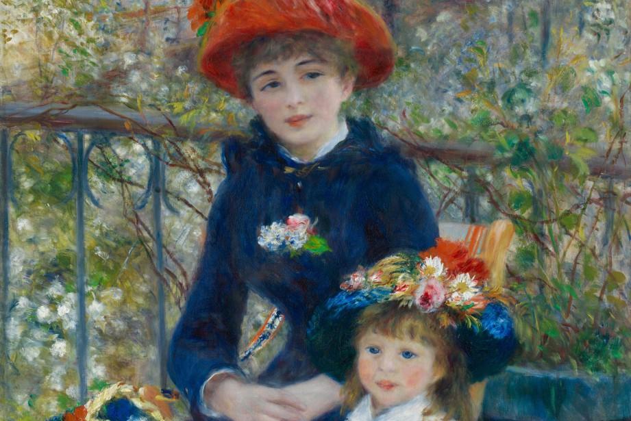 Le tableauLes deux soeurs (détail)dePierre-Auguste Renoir.... (PHOTO WIKICOMMONS)