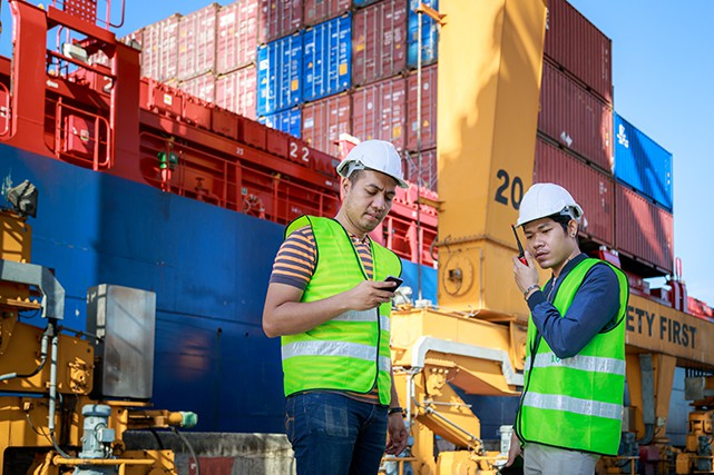 Engineer Team Working At Shipping Cargo Port... (Getty Images/iStockphoto)