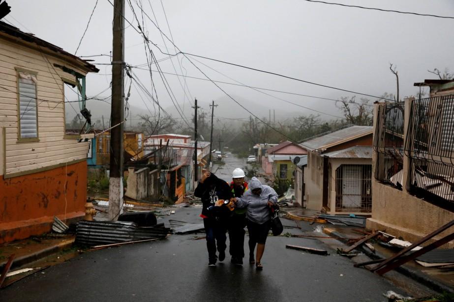 Maria a frappé l'île de Porto Rico le... (Photo Carlos Garcia Rawlins, archives REUTERS)