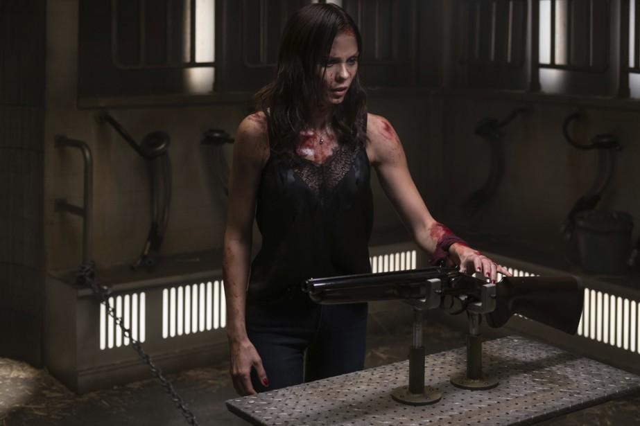 Laura Vandervoort dans une scène du film Jigsaw.... (Photo fournie par Lionsgate)