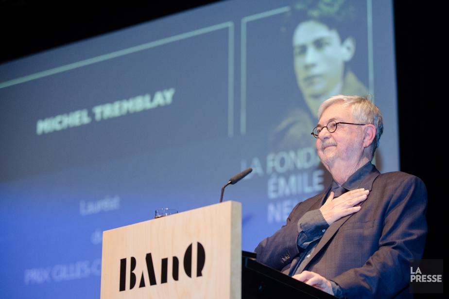 L'auteur Michel Tremblay (sur la photo) a remporté... (Photo Ninon Pednault, collaboration spéciale, La Presse)