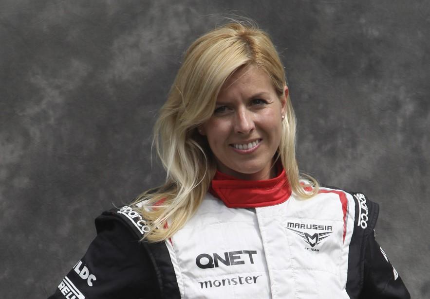 La pilote d'essai espagnole Maria de Villota, de l'écurie Marussia, avant le GP d'Australie le 15 mars 2012. Elle est morte un an et demi plus tard à l'âge de 33 ans des suites tardives d'un grave accident à l'entraînement durant lequel elle avait perdu son oeil droit et subi plusieurs blessures internes. (AP)