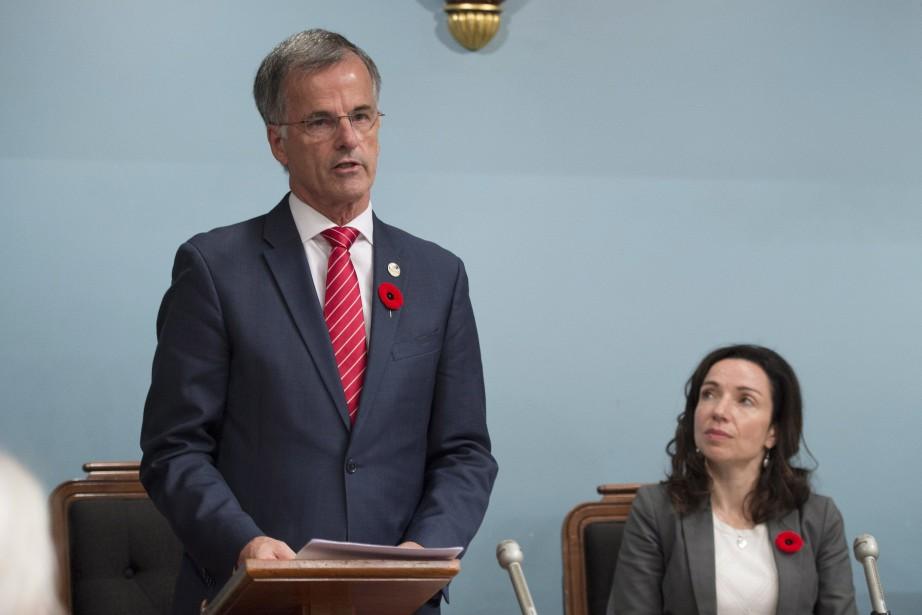 Le député Guy Ouellette a prononcé une allocution... (Photo Jacques Boissinot, PC)