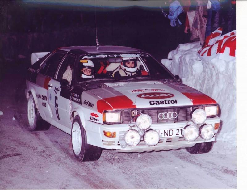 L'Audi de Michèle Mouton, lorsqu'elle était pilote d'usine chez Audi et pilote de l'écurie de rallye Audi durant les années 80. | 2 novembre 2017