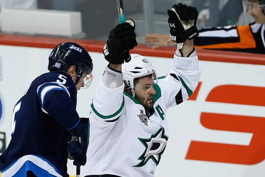 Alexander Radulov a marqué son cinquième but de... (PHOTO JOHN WOODS, LA PRESSE CANADIENNE)