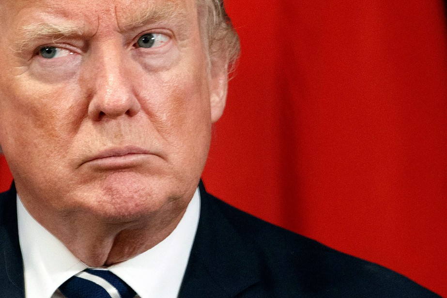 Le président Donald Trump s'est exprimé à deux... (PHOTO EVAN VUCCI, ARCHIVES ASSOCIATED PRESS)