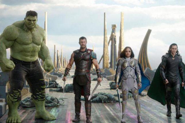 Hulk, Chris Hemsworth, Tessa Thompson et Tom Hiddleston... (Photo fournie par Marvel Studios)