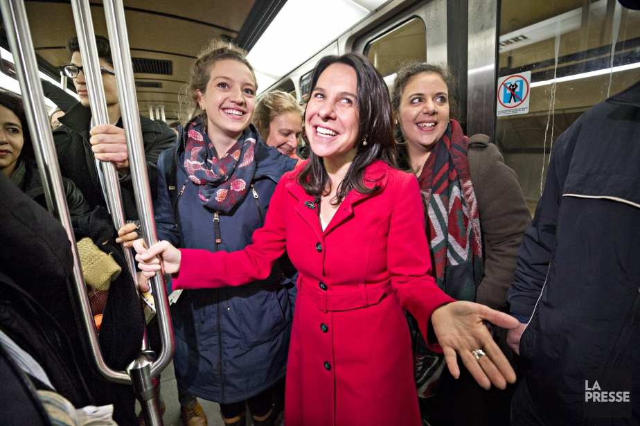 La cheffe de Projet Montréal, Valérie Plante, a... (Photo Patrick Sanfacon, La Presse)