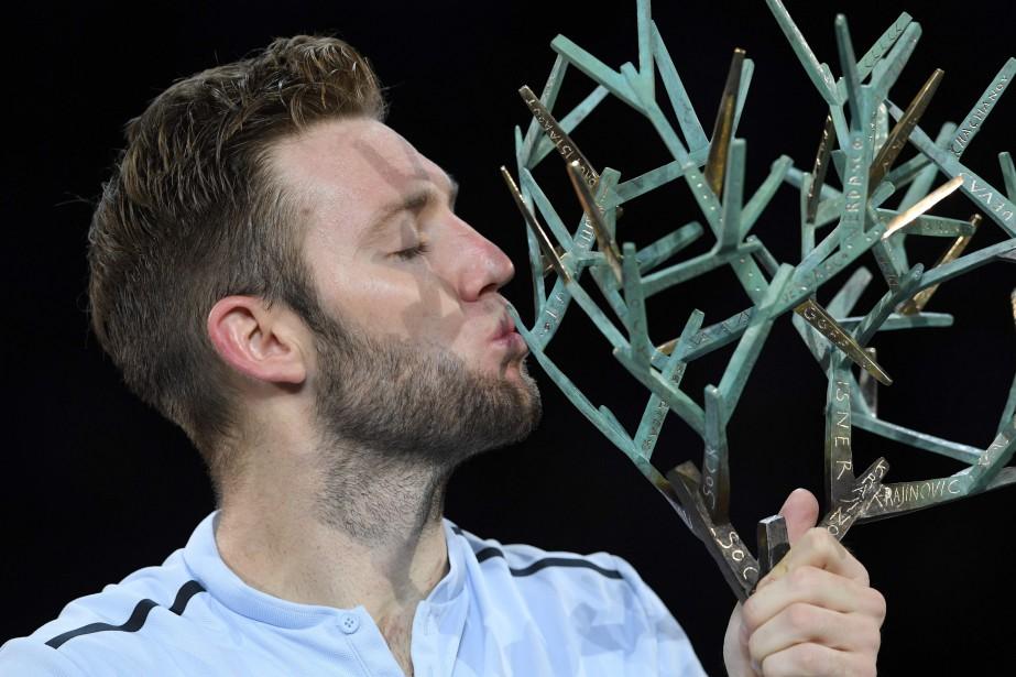 Victorieux après quasiment deux heures de match, Jack... (Photo Christophe Archambault, Agence France-Presse)