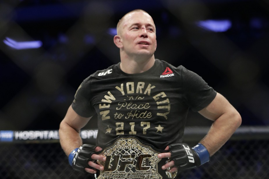 À son retour dans l'octogone, Georges St-Pierre a... (Photo Frank Franklin II, AP)