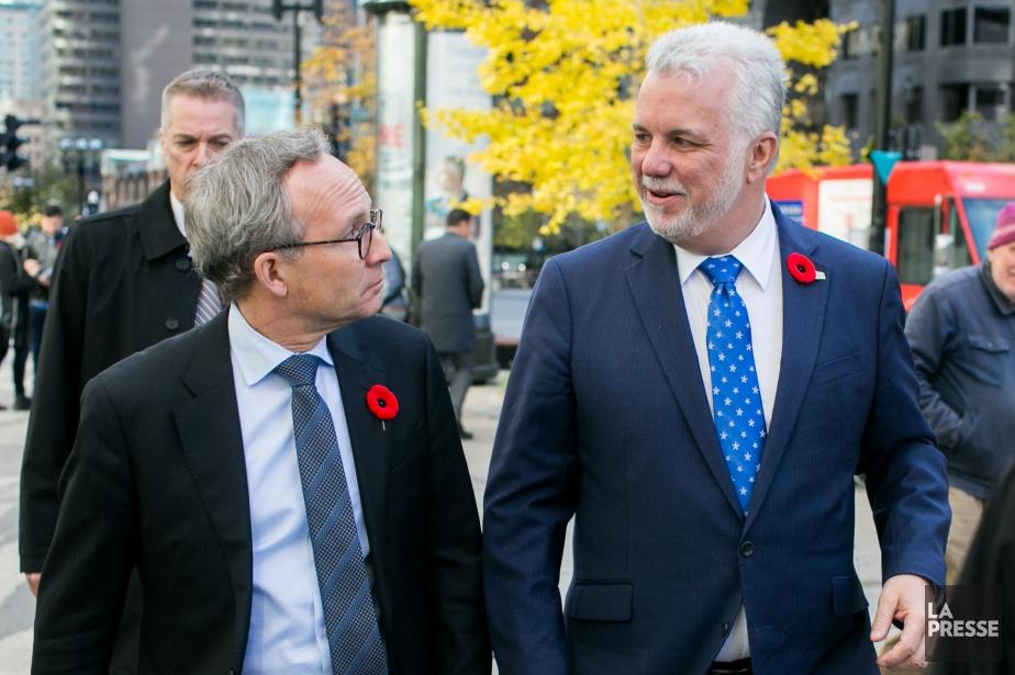 Le ministre des Affaires municipales Martin Coiteux et... (Photo Martin Tremblay, La Presse)