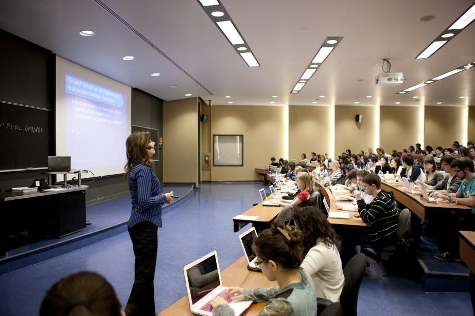 Photo générale de classe à l'université pour le... (Photo: Université de Montréal.)