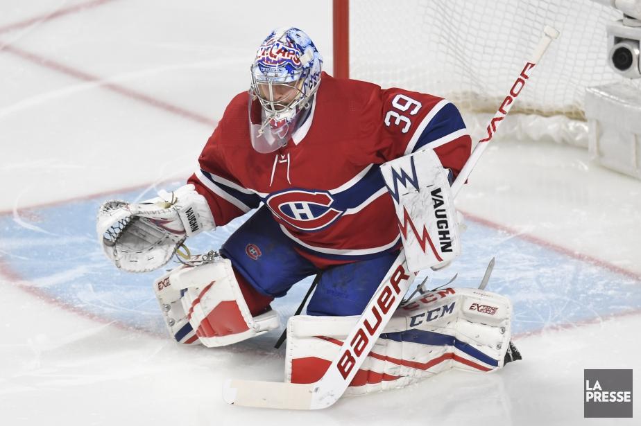 Charlie Lindgrenportait son masque des IceCaps de Saint-Jean... (Photo Bernard Brault, archives La Presse)