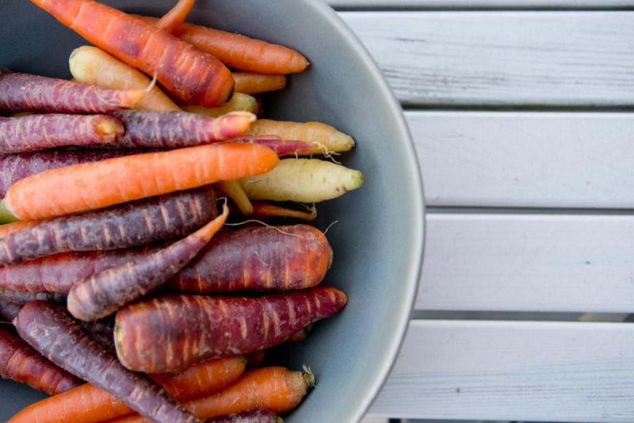 Les carottes multicolores sont de plus en plus... (Photo David Boily, La Presse)