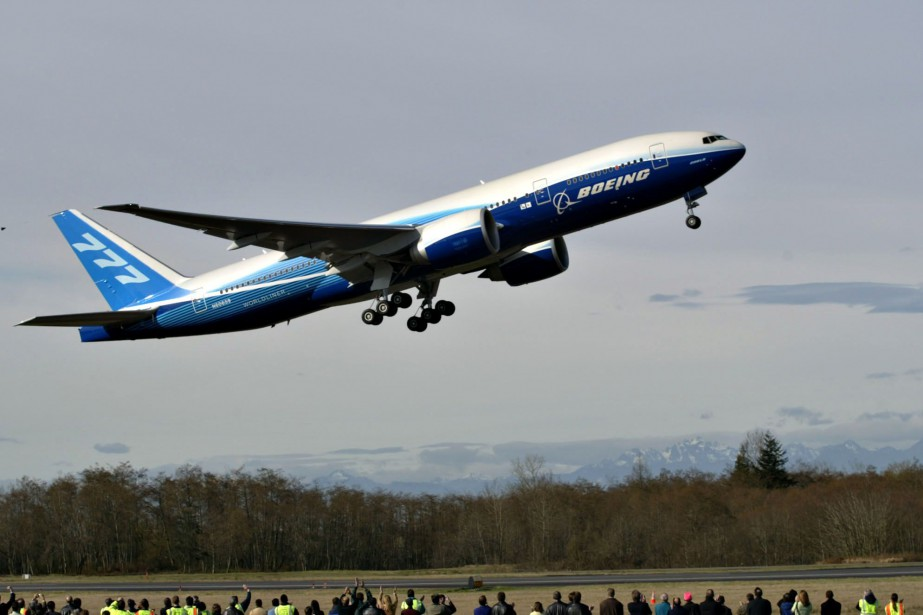 Un Boeing 777.... (PHOTO KARIE HAMILTON, ARCHIVES BLOOMBERG)