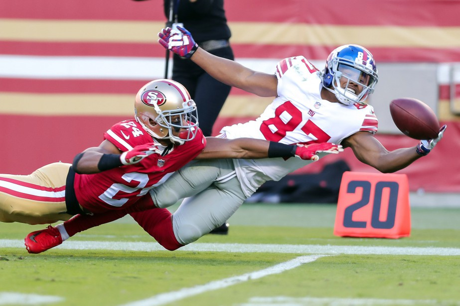 Sterling Shepard et K'Waun Williams.... (USA TODAY Sports)