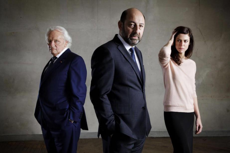 Niels Arestrup, Kad Merad et Anna Mouglalis sont... (Photo fournie par le Groupe Canal+)
