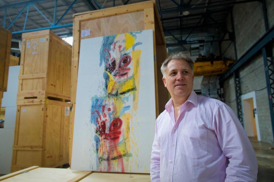 Le collectionneur François Odermatt, en janvier 2014, au... (Photo André Pichette, archives La Presse)