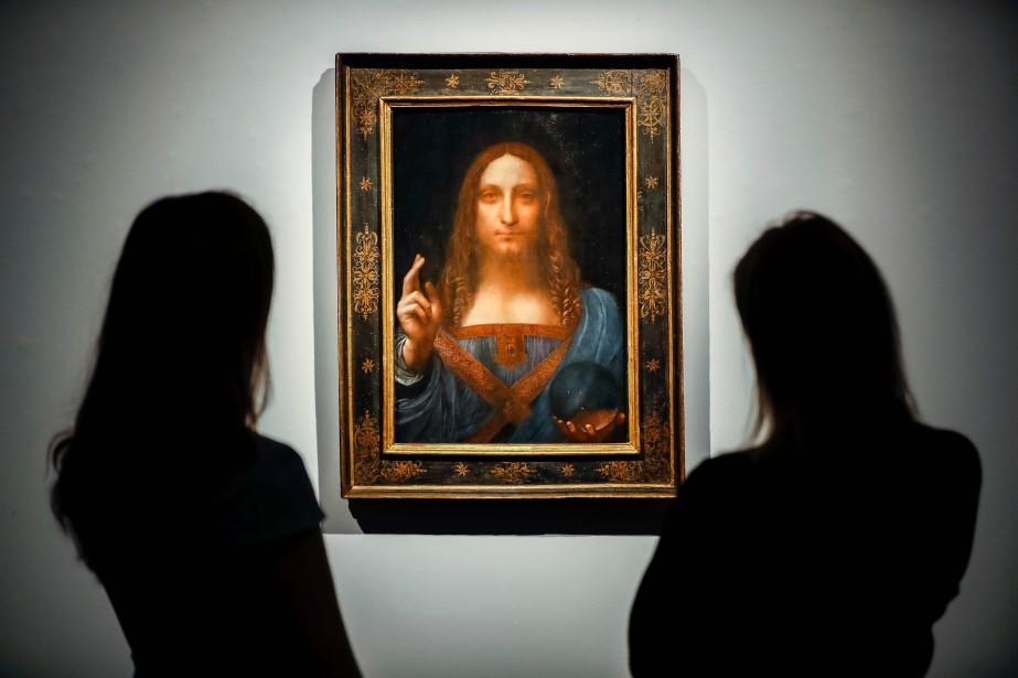Salvator Mundiest la dernier tableau qu'a peintLéonard de... (PHOTO AFP)