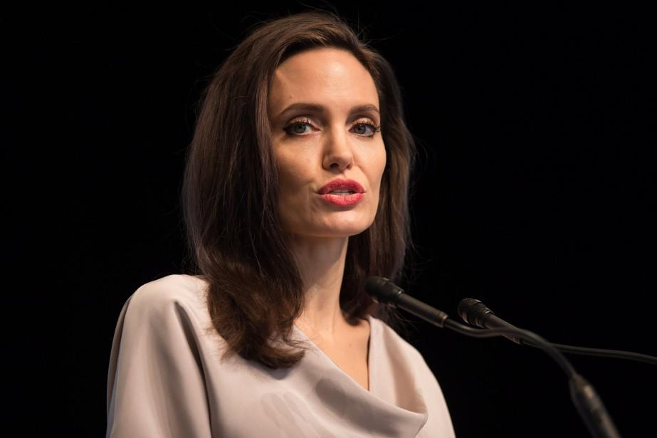 Angelina Jolie, qui est également envoyée spéciale du... (PHOTO Darryl Dyck, LA PRESSE CANADIENNE)